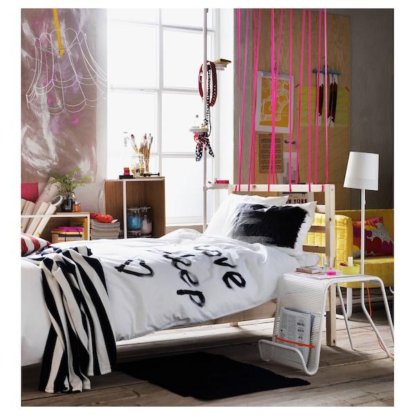 TARVA Bed frame, pine/Luröy, Twin