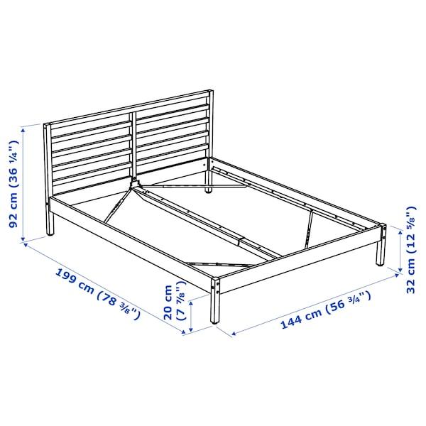 TARVA Bed frame, pine/Luröy, Full