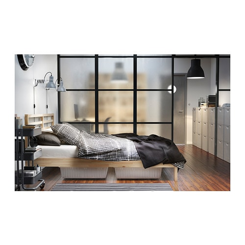 ikea tarva queen bed review. Black Bedroom Furniture Sets. Home Design Ideas