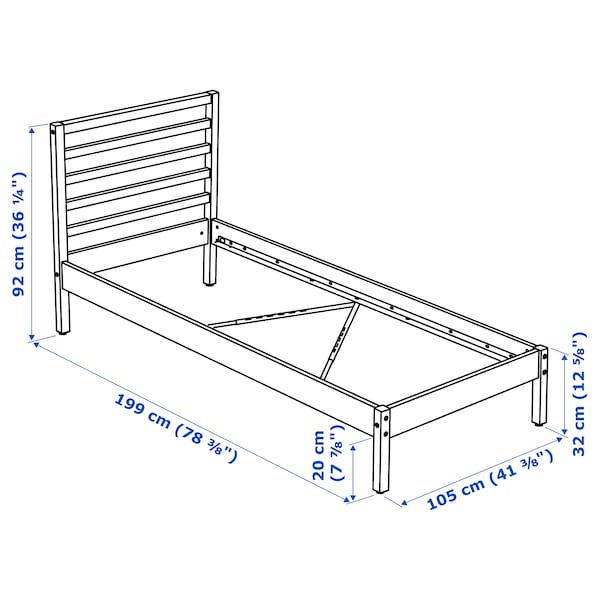 Tarva Bed Frame Pine Twin Ikea