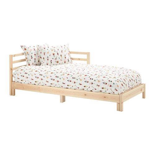 TARVA Daybed with 2 mattresses, pine, Husvika firm pine/Husvika firm Twin
