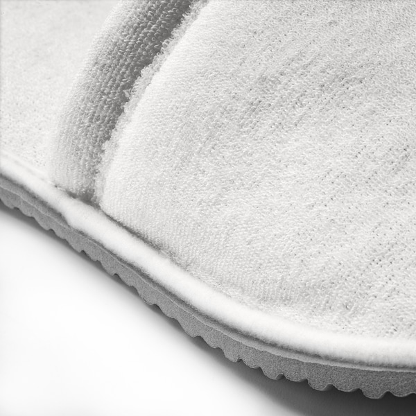 TÅSJÖN Slippers, white, S/M