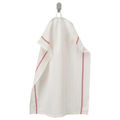 "TEKLA Dish towel, white/red, 20x26 """