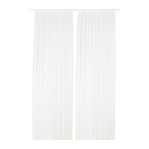 teresia sheer curtains 1 pair - White Sheer Curtains