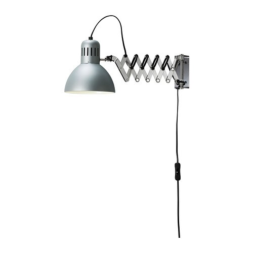 wall reading lamp ikea you can pull the lamp head out from the wall. Black Bedroom Furniture Sets. Home Design Ideas