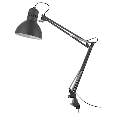 TERTIAL Work lamp with LED bulb, dark gray