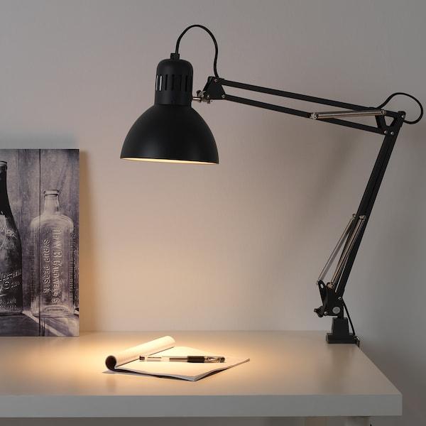 TERTIAL Work lamp with LED bulb, dark gray
