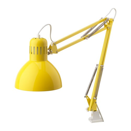 TERTIAL Work lamp with LED bulb, yellow