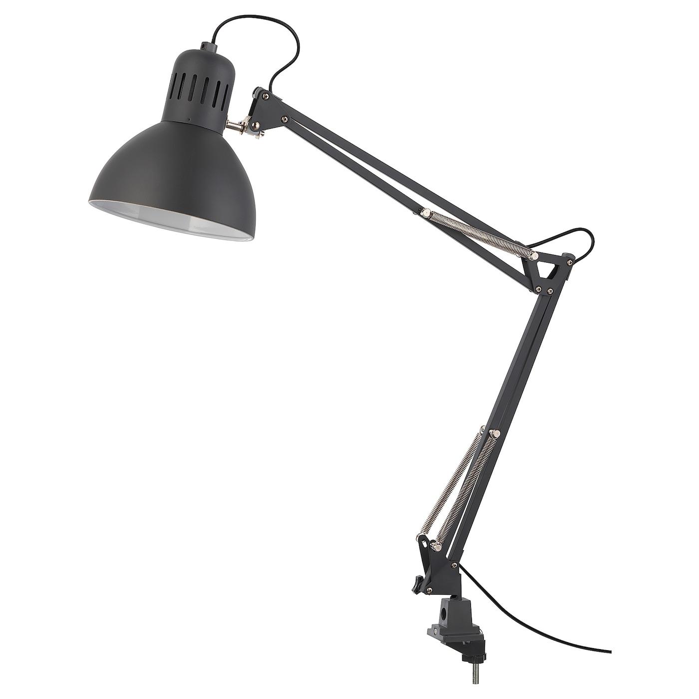 TERTIAL Work lamp with LED bulb - dark gray - IKEA