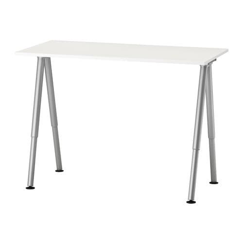 Astounding Thyge Desk White Silver Color Download Free Architecture Designs Scobabritishbridgeorg