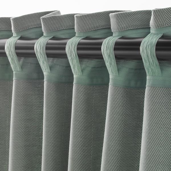 """TIBAST Curtains, 1 pair, green, 57x98 """""""