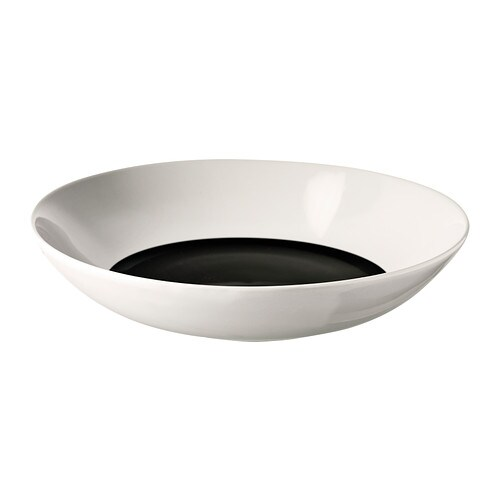 TICKAR Deep plate/bowl IKEA The graphic pattern is inspired by Scandinavian simplicity and gives the dinnerware a stylish character.
