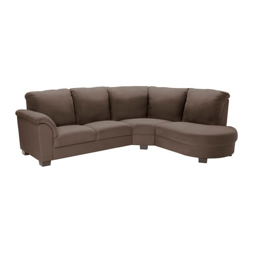Tidafors corner sofa with arm left dansbo medium brown for Canape angle ikea