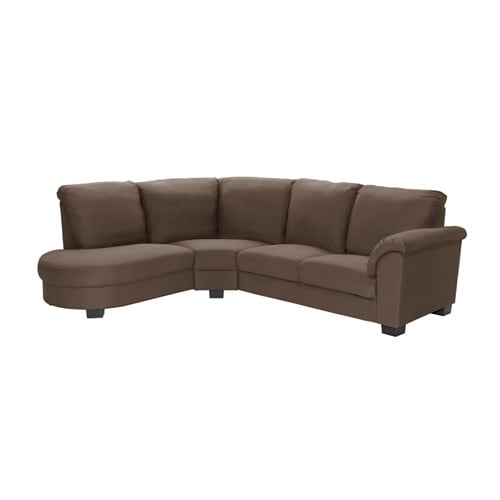 TIDAFORS Corner sofa with arm right - Dansbo medium brown - IKEA