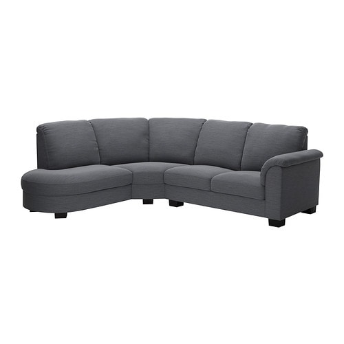 tidafors corner sofa with arm right hensta gray ikea. Black Bedroom Furniture Sets. Home Design Ideas