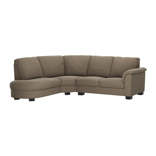Tidafors corner sofa with arm right hensta light brown - Sofas en esquina ...