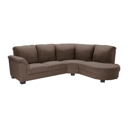 Tidafors sectional 3 seat dansbo medium brown ikea for Sofa rinconera exterior