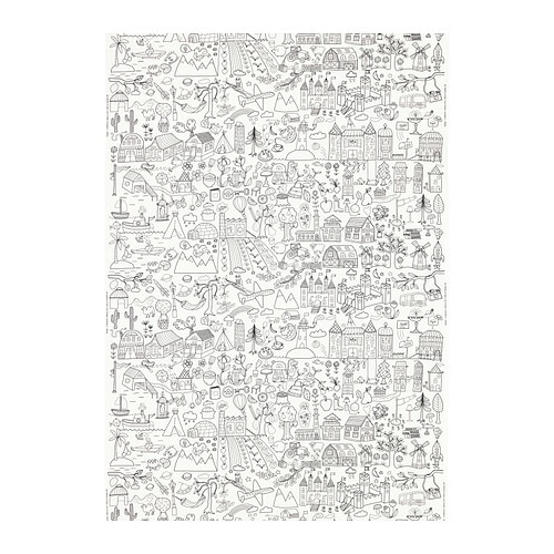 TIDNY Fabric IKEA You can personalize the fabric by filling in the outlines with permanent fabric markers.
