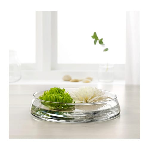 TIDVATTEN Bowl IKEA The glass bowl is mouth blown by a skilled craftsperson.