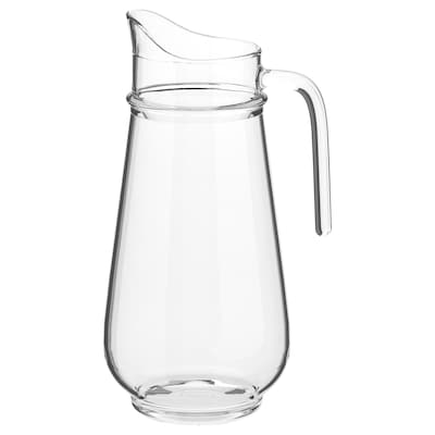 TILLBRINGARE Pitcher, clear glass, 57 oz