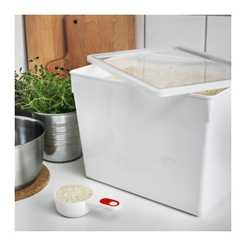TILLSLUTA Dry Food Jar With Lid IKEA Helps You Organize Dry Foods In Your  Cabinets And