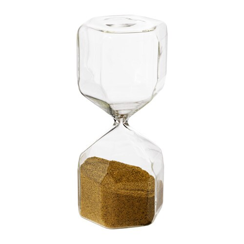TILLSYN Decorative hourglass, clear glass