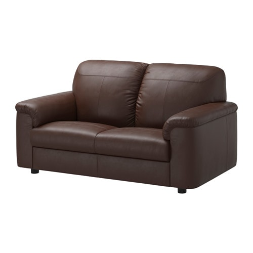 Timsfors loveseat mjuk kimstad dark brown ikea for Sofa en l liquidation