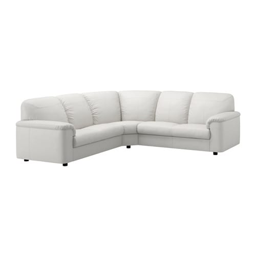 Timsfors sectional 4 seat corner mjuk kimstad off white for Faux leather sofa seat covers