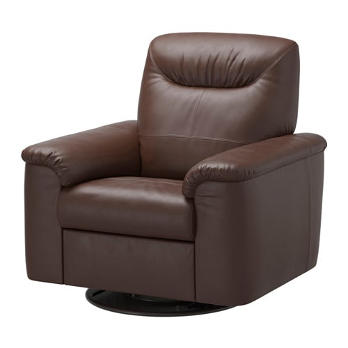 timsfors swivel recliner mjuk kimstad dark brown ikea. Black Bedroom Furniture Sets. Home Design Ideas