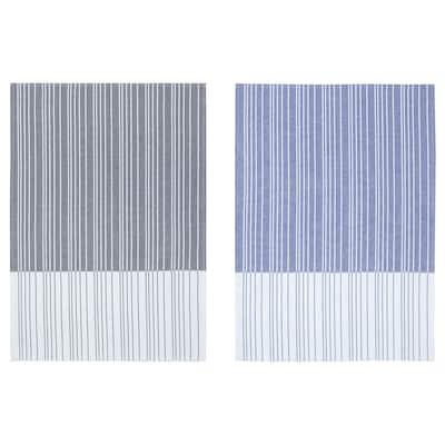 "TIMVISARE Dish towel, dark blue/black, 20x28 """