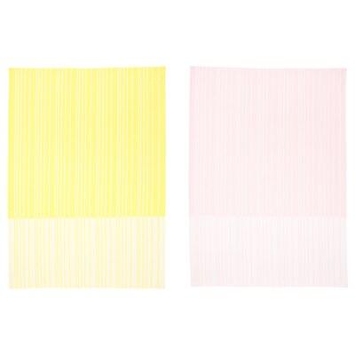 """TIMVISARE Dish towel, yellow/light pink, 20x28 """""""