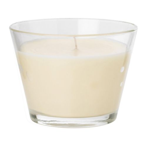 TINDRA Scented candle in glass IKEA When the candle has burned itself out the glass cup can be used as a tealight holder.