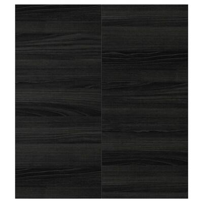 """TINGSRYD 2-p door/corner base cabinet set wood effect black 13 1/4 """" 30 """" 13 """" 29 7/8 """" 5/8 """""""