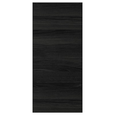 """TINGSRYD cover panel wood effect black 15 3/8 """" 32 1/2 """" 1/2 """""""