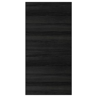 """TINGSRYD door wood effect black 24 """" 50 """" 24 """" 49 7/8 """" 5/8 """""""