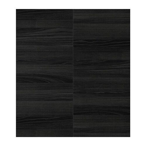 Tingsryd 2 P Door Corner Base Cabinet Set Wood Effect Black