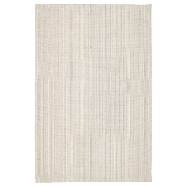 """TIPHEDE Rug, flatwoven, natural/off-white, 3 ' 11 """"x5 ' 11 """""""
