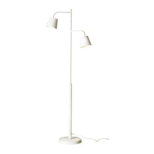 TISDAG LED floor lamp IKEA Uses LEDs, which consumes up to 80% less energy and last 20 times longer than incandescent bulbs.