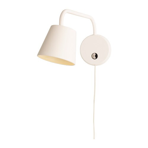 TISDAG LED wall lamp IKEA Uses LEDs, which consumes up to 80% less energy and last 20 times longer than incandescent bulbs.