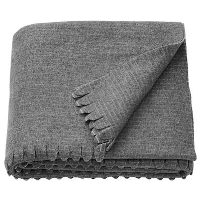 """TJÄRBLOMSTER Bedspread, gray, 59x83 """""""