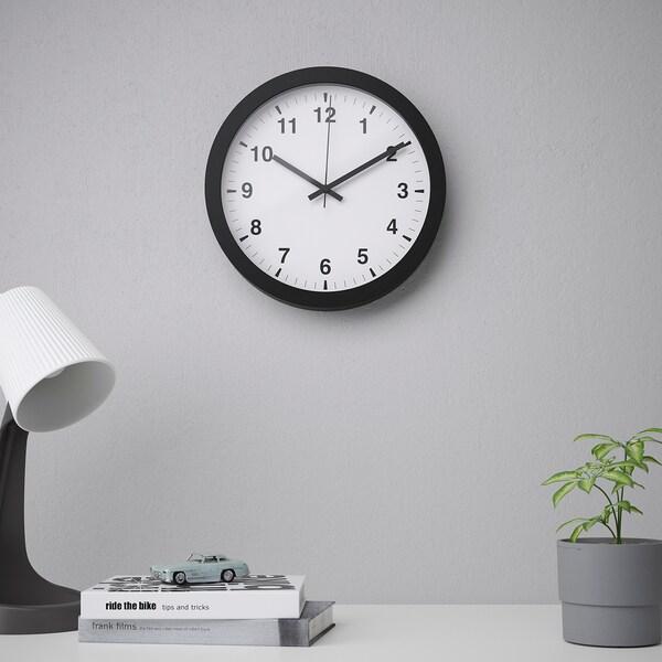 """TJALLA Wall clock, black, 11 """""""