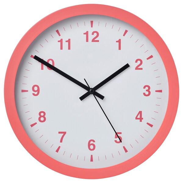 """TJALLA Wall clock, pink, 11 """""""