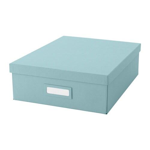 Tjena box with compartments light blue ikea - Ikea accessoires bureau ...