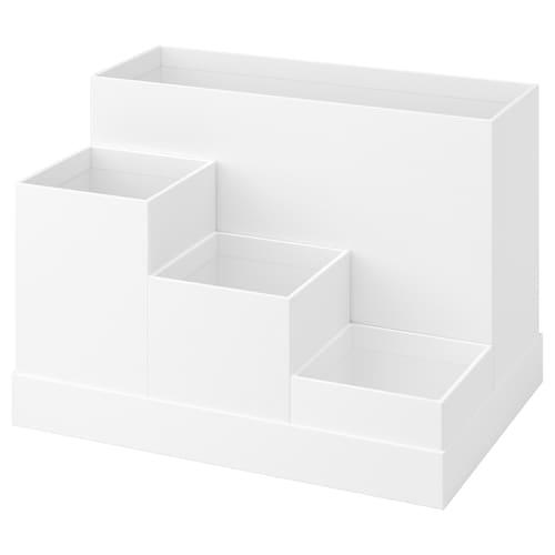 "TJENA desk organizer white 7 "" 9 ¾ "" 6 ¾ """