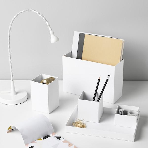 "TJENA Desk organizer, white, 7x6 ¾ """