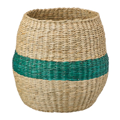 """TJILLEVIPS basket seagrass green 11 ¾ """" 11 ¾ """" 6 """""""