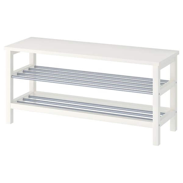 Fine Bench With Shoe Storage Tjusig White Caraccident5 Cool Chair Designs And Ideas Caraccident5Info