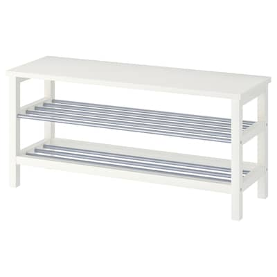 TJUSIG Bench with shoe storage, white, 42 1/2x19 5/8 ""