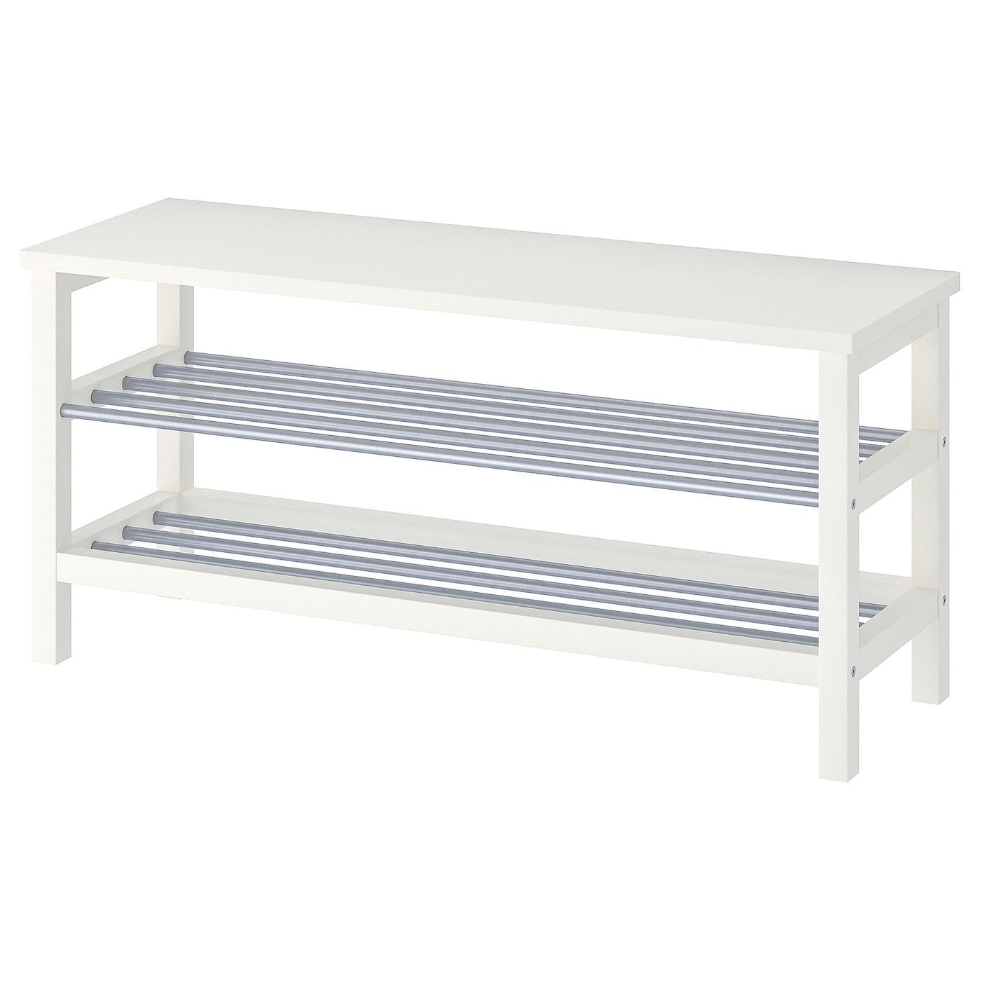 Tjusig Bench With Shoe Storage White