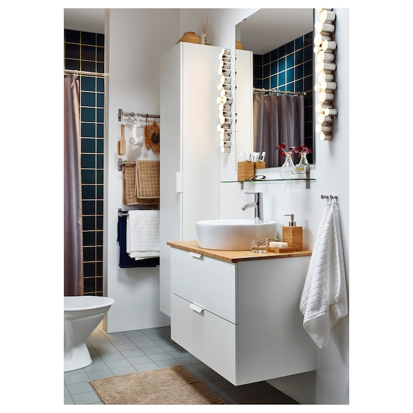 "TÖRNVIKEN Countertop sink, white, 17 3/4 """